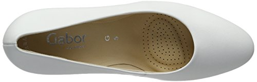 Gabor Shoes Comfort, Scarpe con Tacco Donna Bianco (Weiss 50)