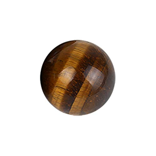 (Hopeg Father's Festival Day Gift - Dark Yellow Amethyst nutural Asian Rare Tiger Eye Quartz Crystal Citrine SphereHealing Ball Sphere Mini Size Toy)