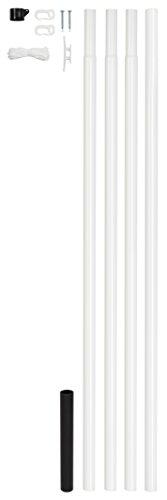 GAH-Alberts 639709 Fahnenmast zylindrische Form Stahl roh, Oberfläche: zinkphosphatiert, Gesamthöhe 6150 mm, Höhe über Boden 5750 mm, Rohr-Ø 42 mm, weiß kunststoffbeschichtet