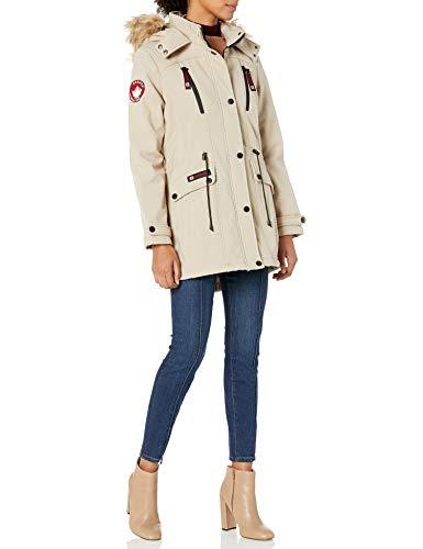 CANADA WEATHER GEAR Women's Plus Size Parka Jacket, Softshell Sand, 3X
