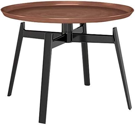 2020 Nieuwste GWFVA Ronde salontafel van massief metaal, tafelblad van traytop, matte textuur, solide viervoetige steunen, geschikt voor binnen en buiten, brons  JruwIeS