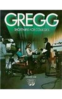 Gregg Shorthand For Colleges Louis A Leslie Charles E Zoubek