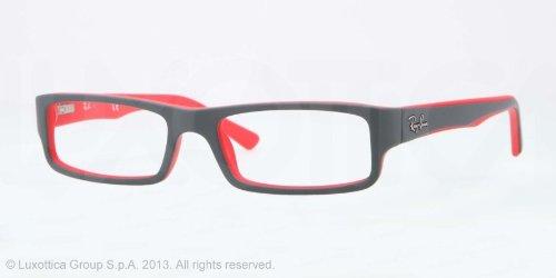 Ray-Ban Glasses Frames 5246 5225 Top Grey on Matt Red: Amazon.ca ...