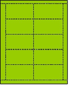 2,500 Label Outfitters Bulk Wholesale Package of Terra Green Laser-InkJet Printable Business Cards (250 Sheets)