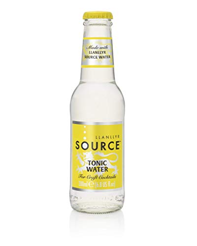 Llanllyr SOURCE Tonic Water 6.8 Ounce Glass Bottles, 200ml, Pack of 16