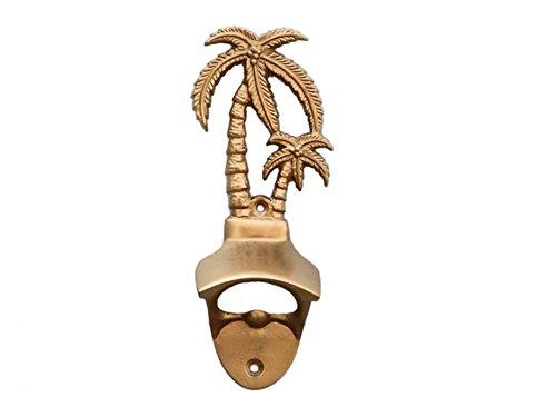 Antique Brass Wall Mounted Palmtree Bottle Opener 6