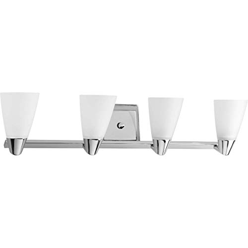 Progress Lighting P2808-15 Rizu Collection 4-Light Vanity Fixture, Polished Chrome