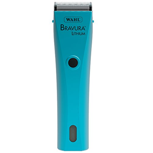 Wahl Professional Animal Bravura Pet, Dog, Cat, and Horse Corded / Cordless Clipper Kit, Turquoise (#41870-0438)