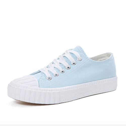 Memory 25e - Women Lace up Canvas Shoes Round Toe Low Top Classic Comfort Non-Slip Flat Heel Espadrilles Sneakers