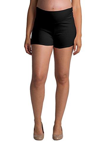 - Ellie Flora Women's Maternity Yoga Shorts Stretch Pregnancy Shorts Fold Over Waistband