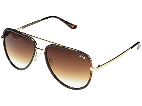 Quay Women's All In Sunglasses, Tort/Brown Fade Lens, One Size