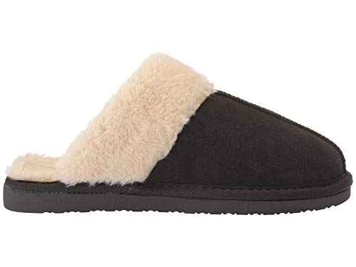Women's Scuff Minnetonka Slipper Chesney Suede Charcoal dxqxw174