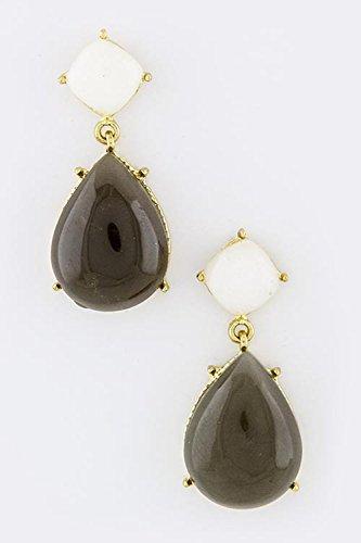 Avon Marcasite Ring (TRENDY FASHION JEWELRY TEARDROP GEM EARRINGS BY FASHION DESTINATION | (Gray))