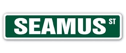 "SEAMUS Street Sign Childrens Name Room Sign Indoor//Outdoor 18/"" Wide"