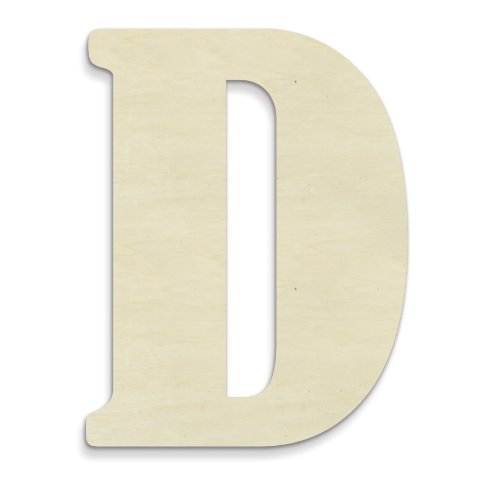 UNFINISHEDWOODCO 23-Inch Unfinished Wood Letter, Large, Letter D (Oversized Letters Wood)