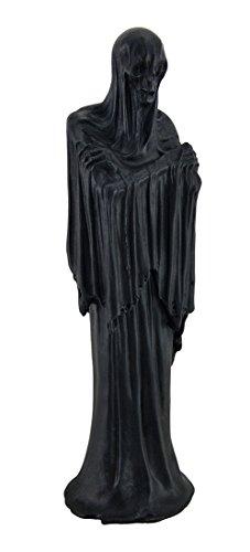 (Zeckos Death's Shadow Creepy Grim Reaper Skeleton in Shroud Statue 12)