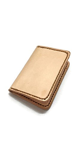 Wallet Leather handmade, Front Pocket Slim Design, Minimalist Credit Card Wallet, Mens Leather Wallets(Veg-tan) ()