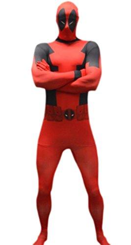 erdbeerloft – Herren Marvel Deadpool, Comic, Cosplay, Kostüm, XS-L, Rot