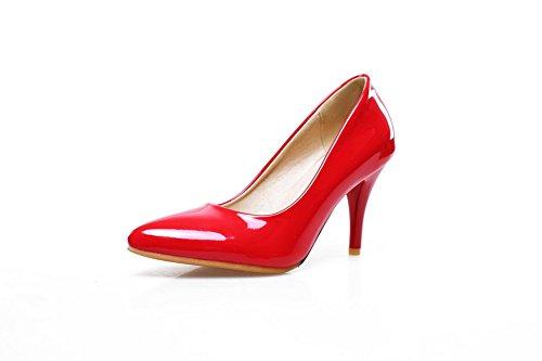 A&N Sandali con Zeppa donna, Rosso (Red), 35 EU