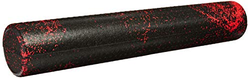 (AmazonBasics High-Density Round Foam Roller | 36-inches, Red Speckled)