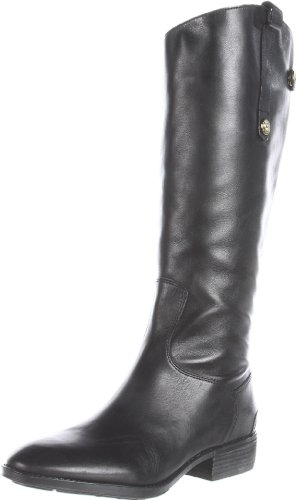 Sam Edelman Women's Penny Riding Boot, Black Leather, 8 M US