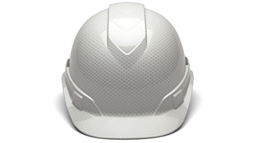 Cap Style Hard Hat, Adjustable Ratchet 4 Pt Suspension, Durable Protection safety helmet, White Shiny Graphite Pattern Design, by Tuff America by Pyramex (Image #3)