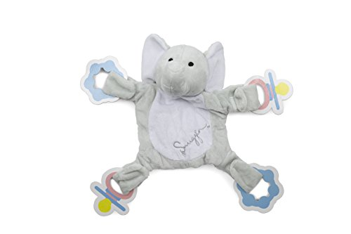 - Snuggin - The Comforting Day and Night Lovey Miracle for Babies (Gray Elephant) - Plush Stuffed Animal Pacifier and Teether Holder