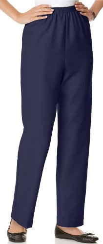 Alfred Dunner Petite Clothes - Alfred Dunner Pull-on Pants Navy 14 Short