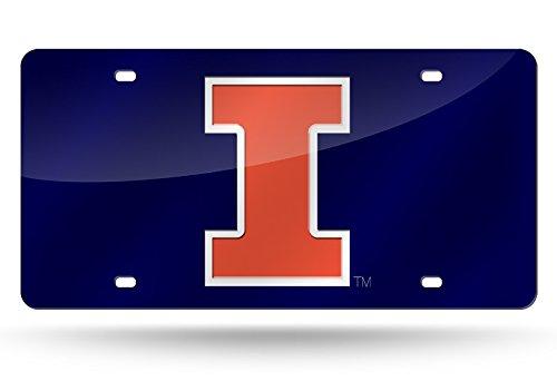 NCAA Illinois Illini Laser Cut License Plate