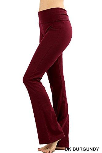 Zenana Premium Cotton FOLD Over Yoga Flare Pants