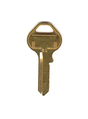 Master Lock House/Office Key Blank K81KR Single sided 50 pk For Master Lock Master Padlock Key Blank