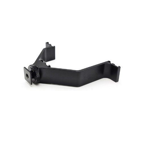 Goliton Camera DSLR Triple Mount Hot Shoe V Shaped Mounting Bracket for LED Video Lights Microphones