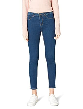 DeFacto Kadın Anna Yüksek Bel Super Skinny Fit Denim Pantolon, Mavi, 25