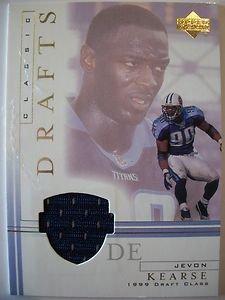 2001 UPPER DECK CLASSIC DRAFT PICK JERSEY CARD ,JEVON KEARSE !!! BOX 29