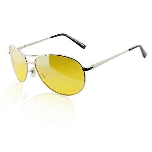 Duco Yellow Night-vision Glasses Anti-glare Driving Eyewear HD Sunglasses - Through You See Lenses Can Polarized