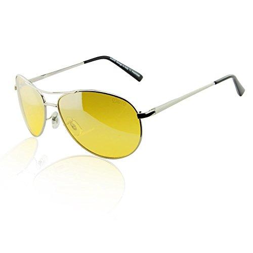 Duco Yellow Night-vision Glasses Anti-glare Driving Eyewear HD Sunglasses - Make Glasses See Through To How
