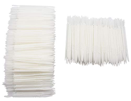 LBY Plastic Toothpicks Home Teeth Cleaning Tool Toothpicks Combination White Pack of 480 Pcs ()