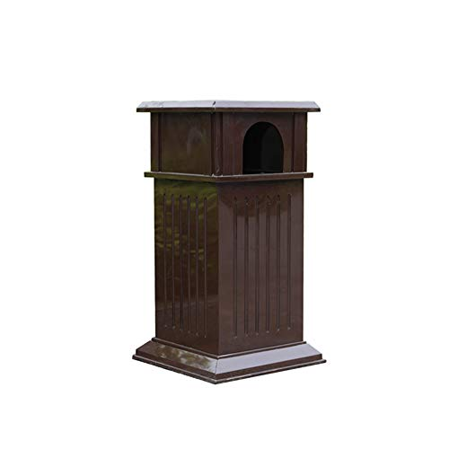 Large Outdoor Trash Can, Stainless Steel Ashtray Safe and Durable Square Galvanized Sheet, Suitable for Outdoor Garden