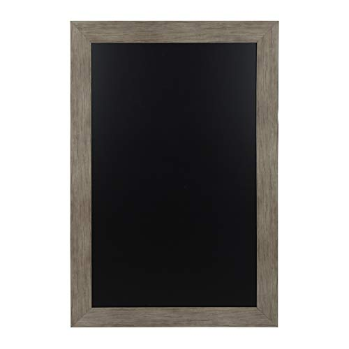 DesignOvation Beatrice Framed Magnetic Chalkboard, 29.5x45.5, Rustic Brown