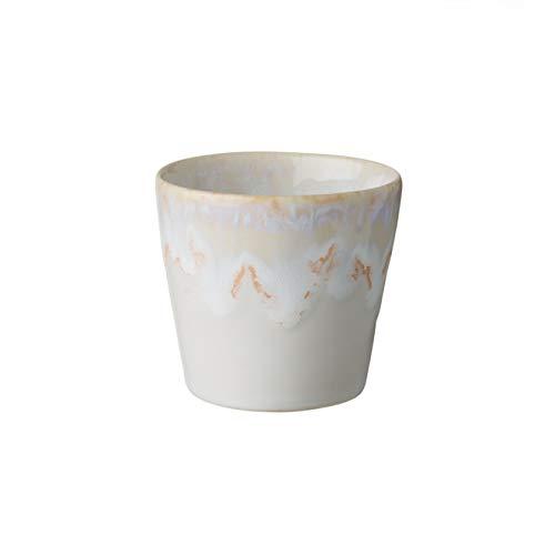 - COSTA NOVA Stoneware Ceramic Dish Grespresso Collection Espresso Cups 2-Piece Set, 3 oz (White)