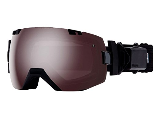 Smith Optics I/OX Turbo Fan Adult Turbo Fan Series Snocross Snowmobile Goggles Eyewear - Black / Ignitor Mirror / - Turbo Lens