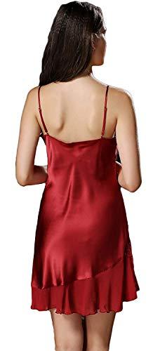 De Sólidos Camisón Off Fashionista cuello Winered Vestido V Batas Ropa Colores Pijamas Verano Shoulder Spaghetti Dormir Mangas Sin Mujer Elegantes Rr7IqgxwZR