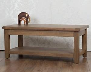 Classically Modern Solid Chunky Oak Dorset Country Fully Assembled Coffee  Table