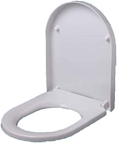 S-graceful便座U字型便座尿素ホルムアルデヒド樹脂付き抗菌性抗菌性トップマウント厚手便座浴室用白色425-473 * 372mm