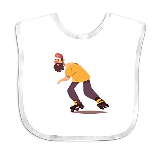 Unisex Bib with Snaps for Drooling, Teething and Feeding Skating