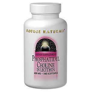 Source Naturals Phosphatidyl Choline In Lecithin, 420 milligrams,  90 Softgels