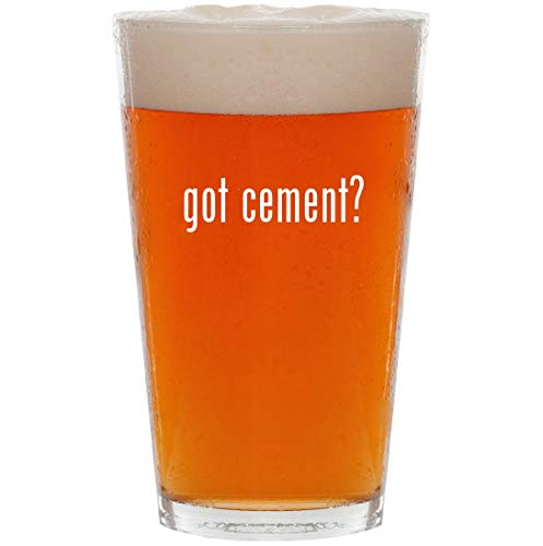 got cement? - 16oz All Purpose Pint Beer Glass