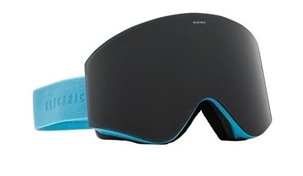 55b9b21be7d3 Amazon.com   Light Blue W  Jet Black Lens Electric Egx Mens Frameless Ski  Snowboard Goggles + Lens   Sports   Outdoors