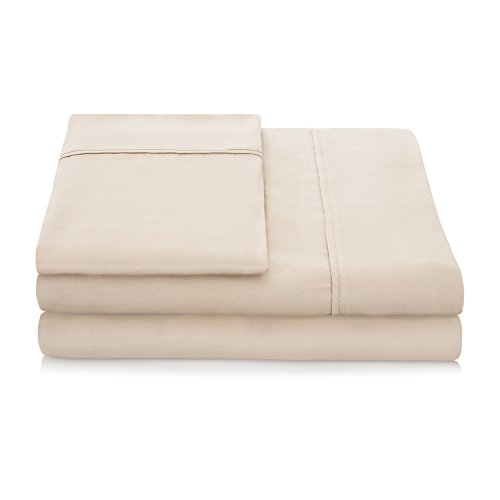 Linenspa 1500 Series 100  Tencel Super Soft  Ultra Light Sheet Set   Split Queen  Khaki