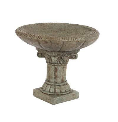 Solid Rock Stoneworks Table Top Feeder- 9'' Tall x 11'' Dia- Cypress